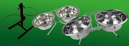 Ställ med/för mat & vattenskålar